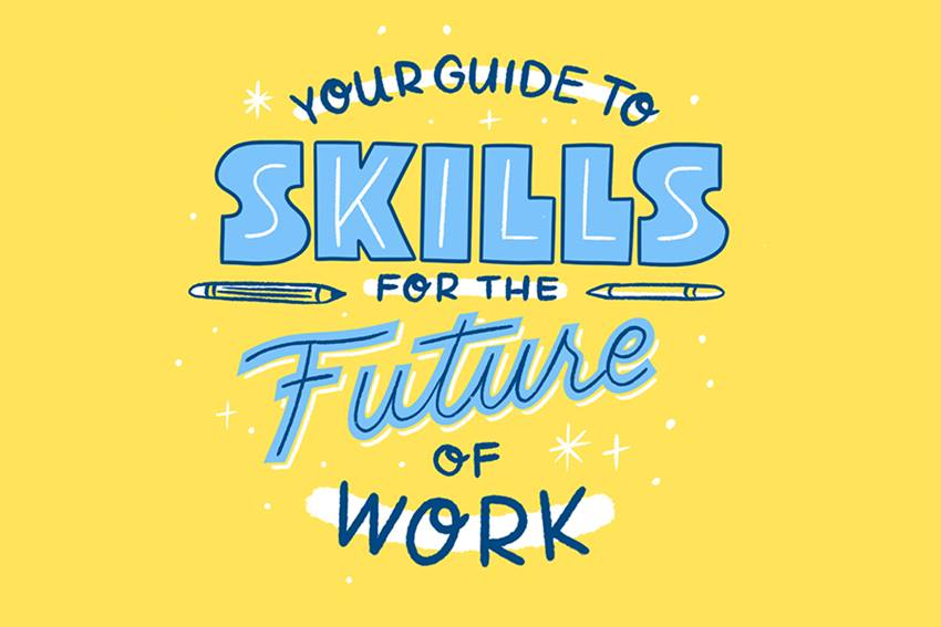 cartoon that says your guide to skills for the future of work
