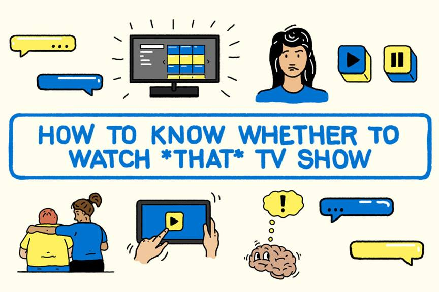 how to know whether to watch that tv show graphic thumbnail
