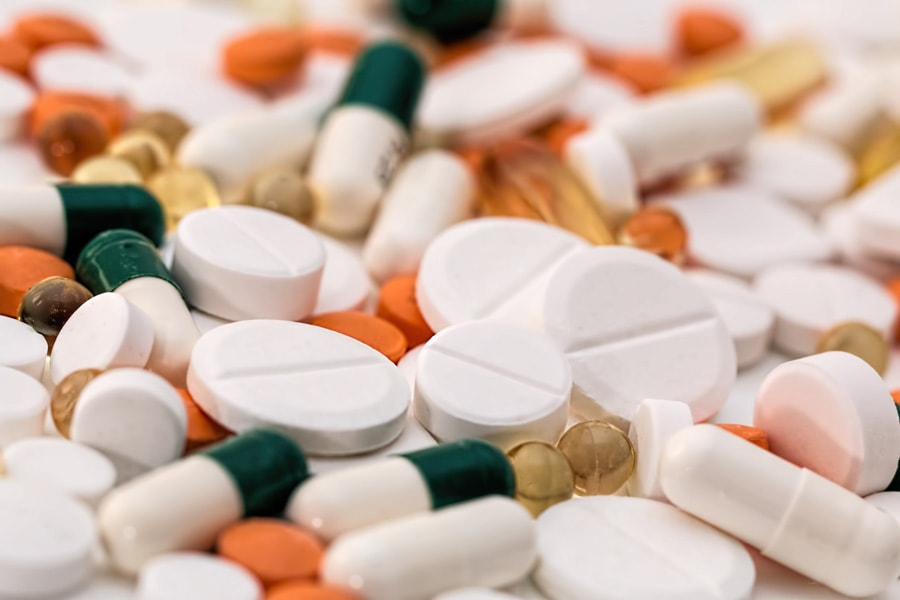 Alot of pills lying around